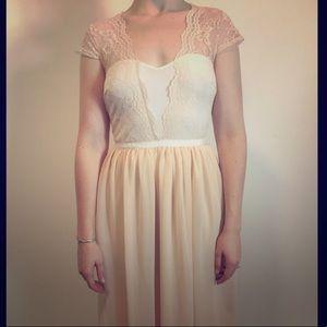ASOS blush/peach lace  ballerina dress Midi 6